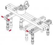 Универсальный комплект для снятия форсунок с гидроцилиндром